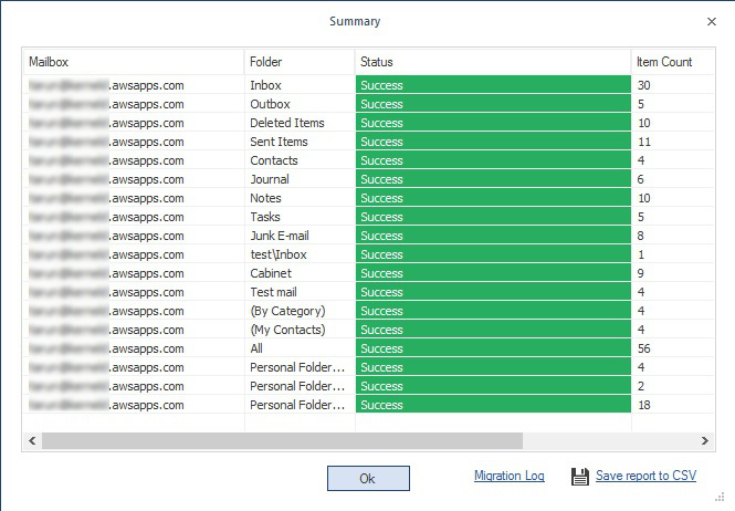 Click on save report to CSV