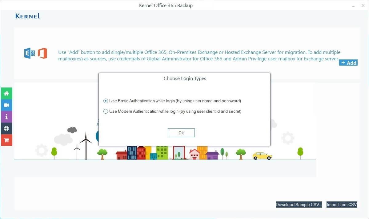 Adding Office 365 account credentials