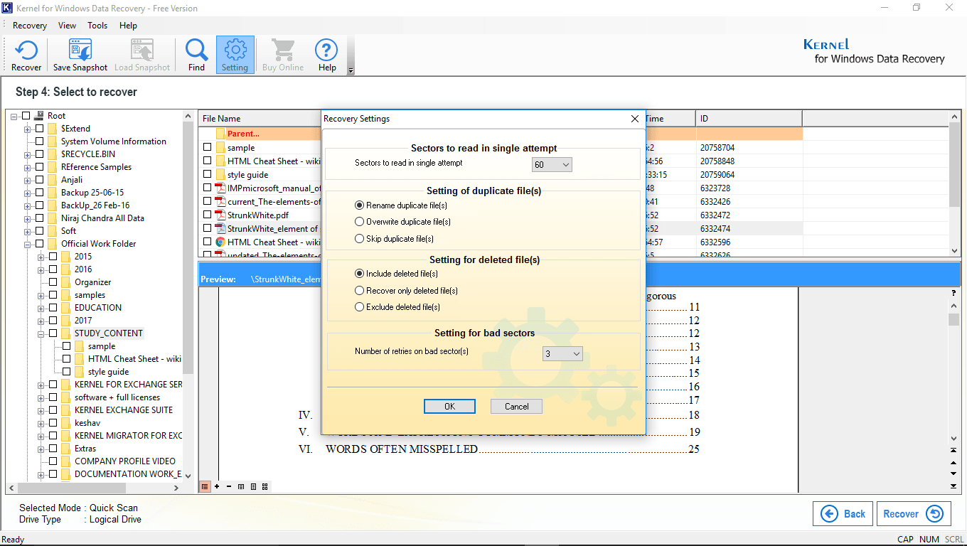 Free Data Recovery Software Download to Recover Lost/Formatted Files