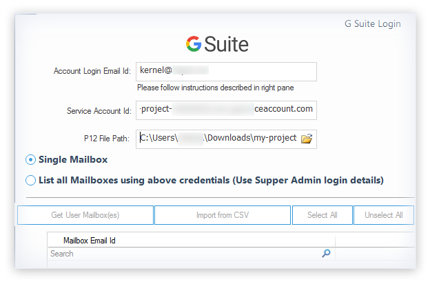 Add G Suite as the source and Office 365 as the destination