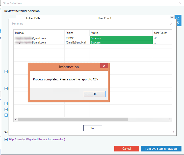 Successful IMAP to Office 365 migration