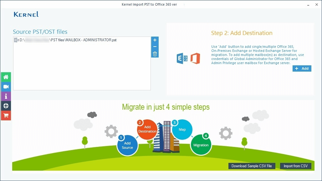 Import PST to Office 365 Tool to Import Multiple PST Files to Office