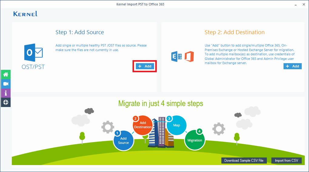 Click the Add button in Add Source section