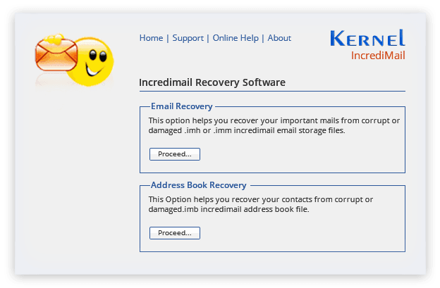 Select suitable option to restore .imm, .imh or .imb file