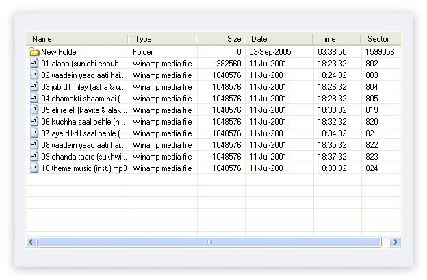 Display list of entire recovered Mac data