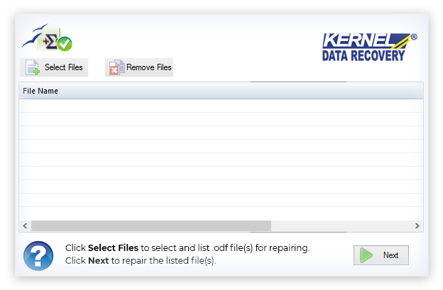 Select and add the ODF files