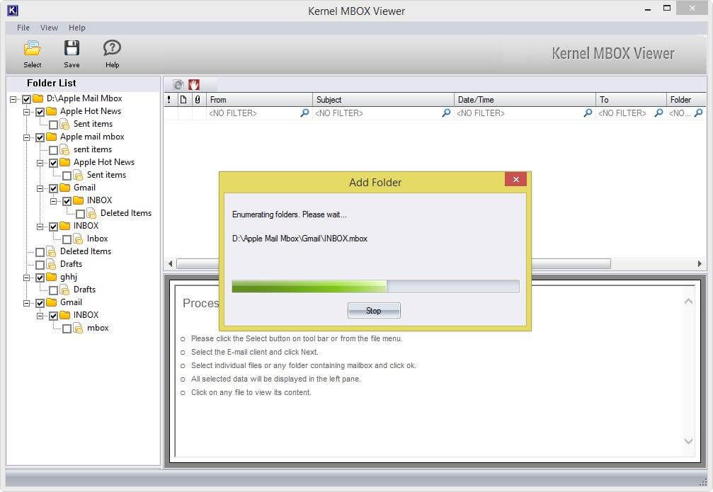 How Kernel MBOX Viewer Software Works