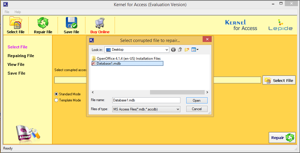 Free MDB Viewer Tool to View MDB/ACCDB Files of MS Access