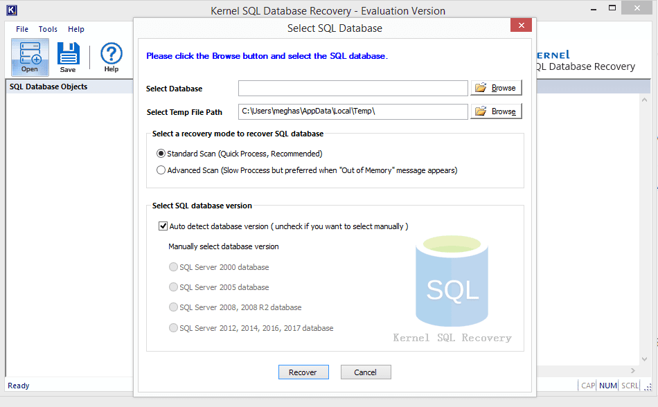 kernel recovery for sql - mdf recovery software crack