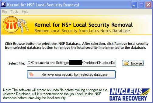 Remove local security from selected database