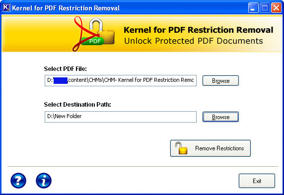 Remove PDF file restrictions