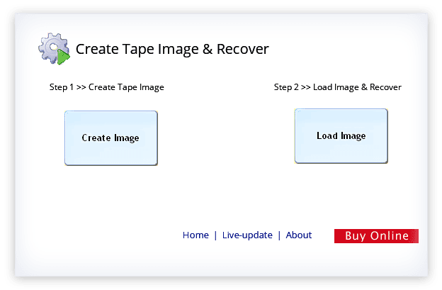 Create Tape image and recover