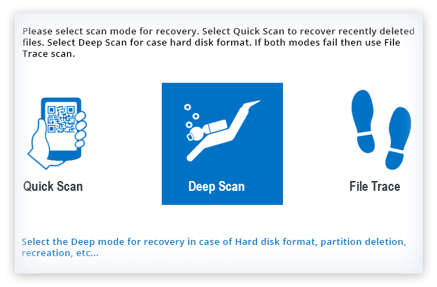 Select drive to perform recovery operation
