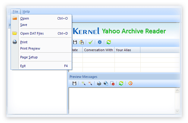 freeware yahoo archive reader to decode and view archived yahoo messages