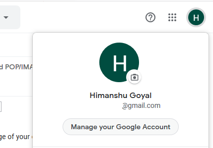 Click on Manage my Accounts