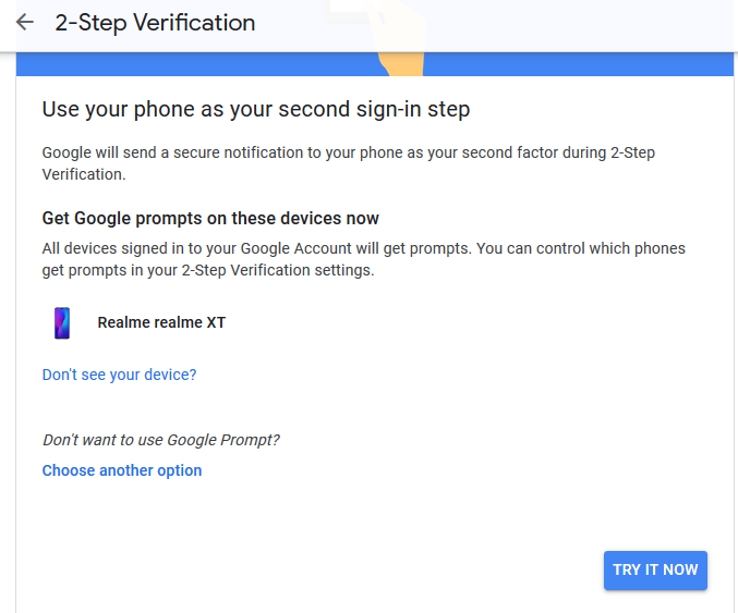 Notification will appear on your phone screen to confirm the sign-in