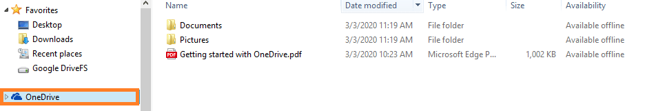 move to the File Explorer of your system and click on the OneDrive icon