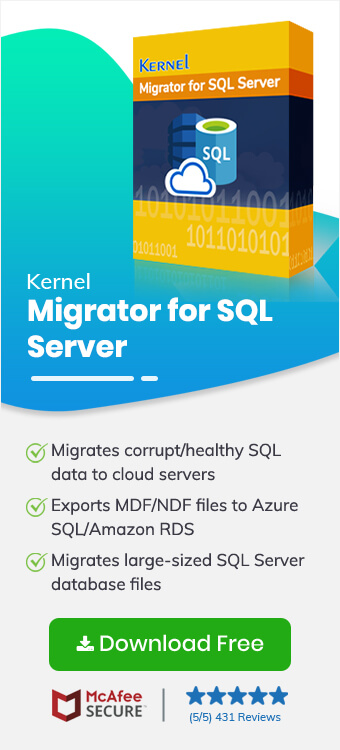 SQL Server Migration - Nucleus Kernel Data Recovery Support