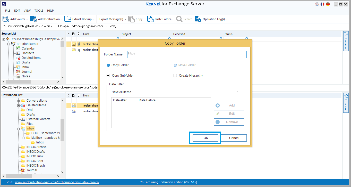 Use Existing Outlook Profile