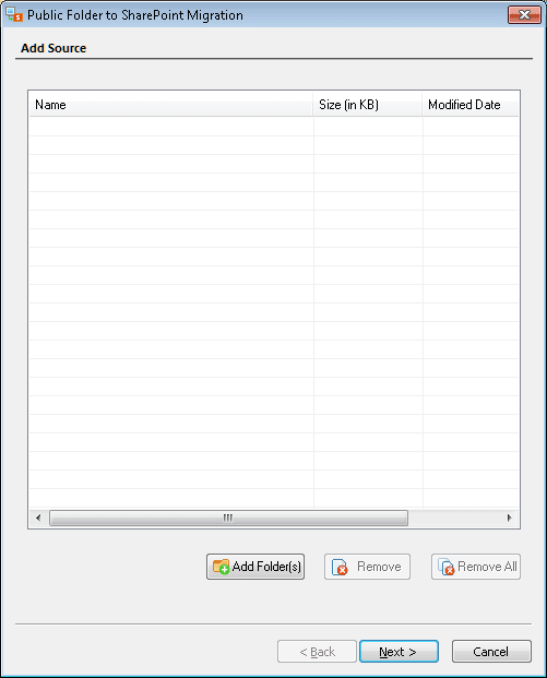 Click Add Folder