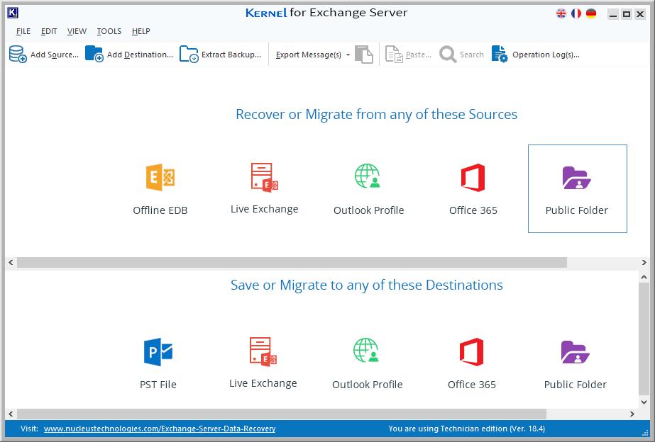 Start Kernel for Exchange Server software