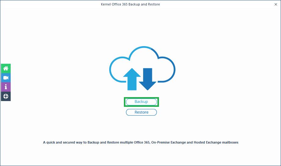 click the Backup option