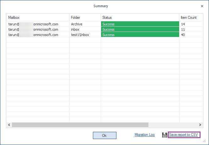 Save report to CSV option