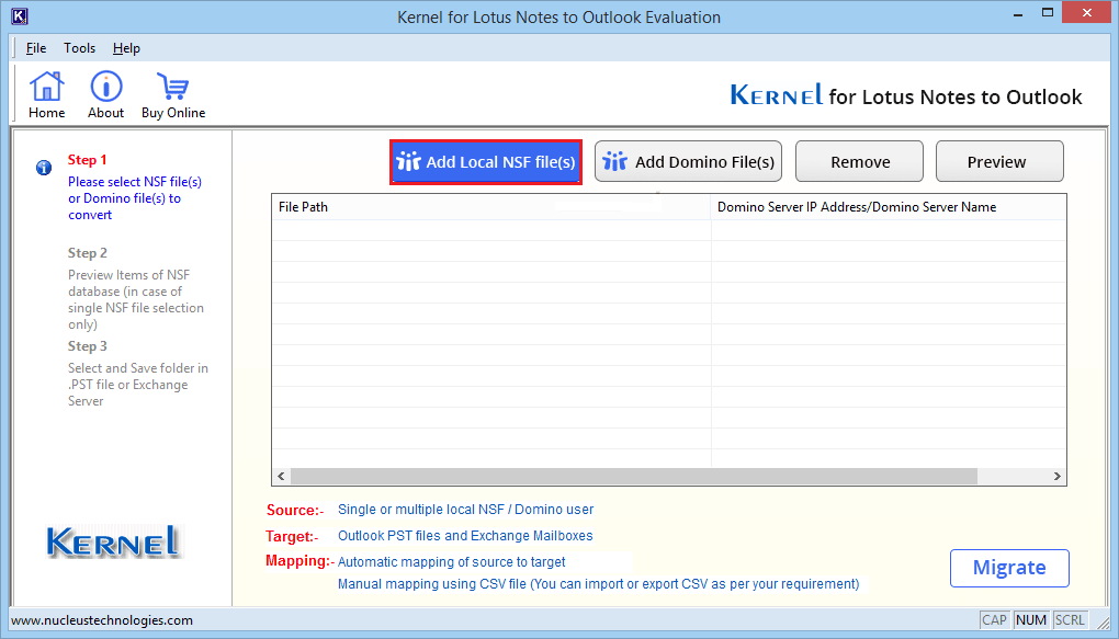 Install Lotus Notes to Outlook software