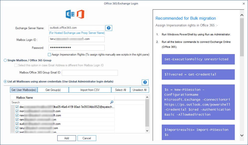 Get User Mailbox(es)